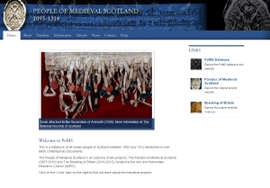 The People of Medieval Scotland 1093-1314 website (click on image to view)